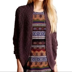 Anthro {Moth} Chunky Knit Cocoon Amherst Cardigan